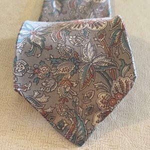 Luca Franzini Grey Tie 100% Silk Made in Italy